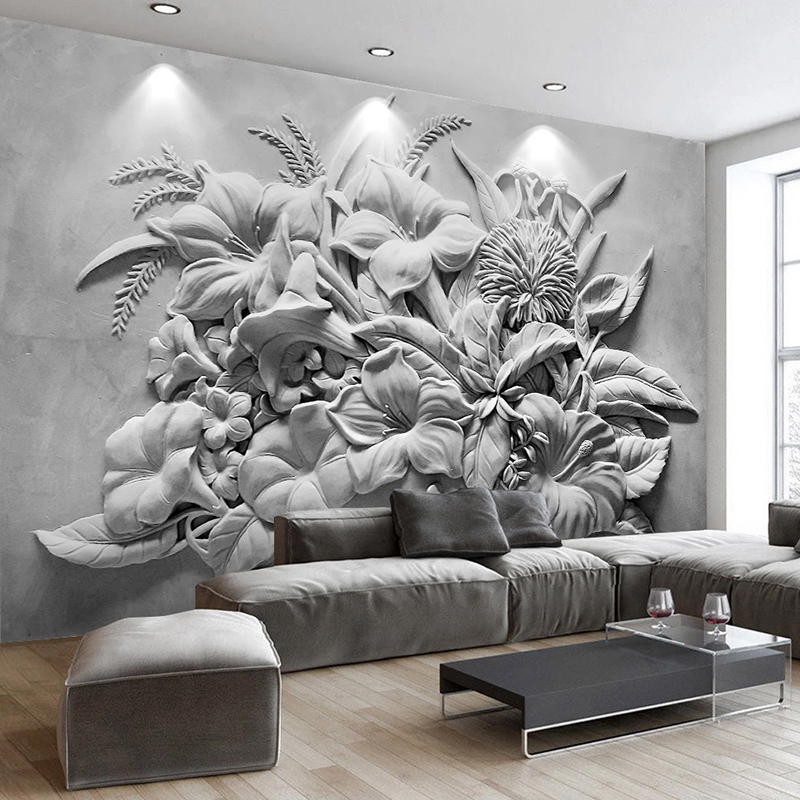Custom Photo Wall Papers Home Decor 3D Embossed Flower Bedroom Living Room Sofa TV Background Wall Mural Wallpaper For Walls 3 D