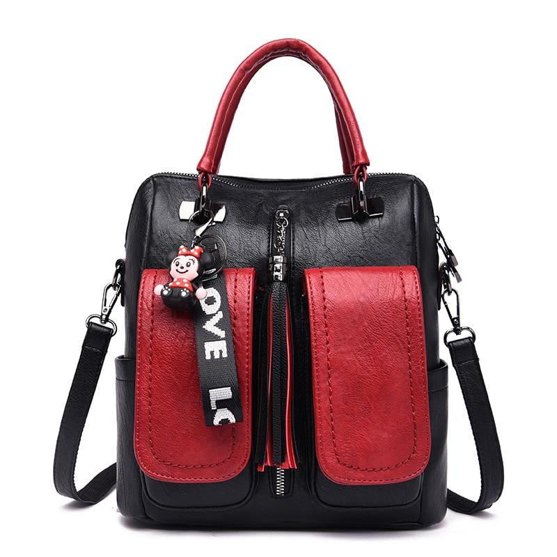 Mochila Feminina Women Leather Travel Backpack Female School Bags For Teenage Girls Large Capacity Shoulder Bags For Women 2019