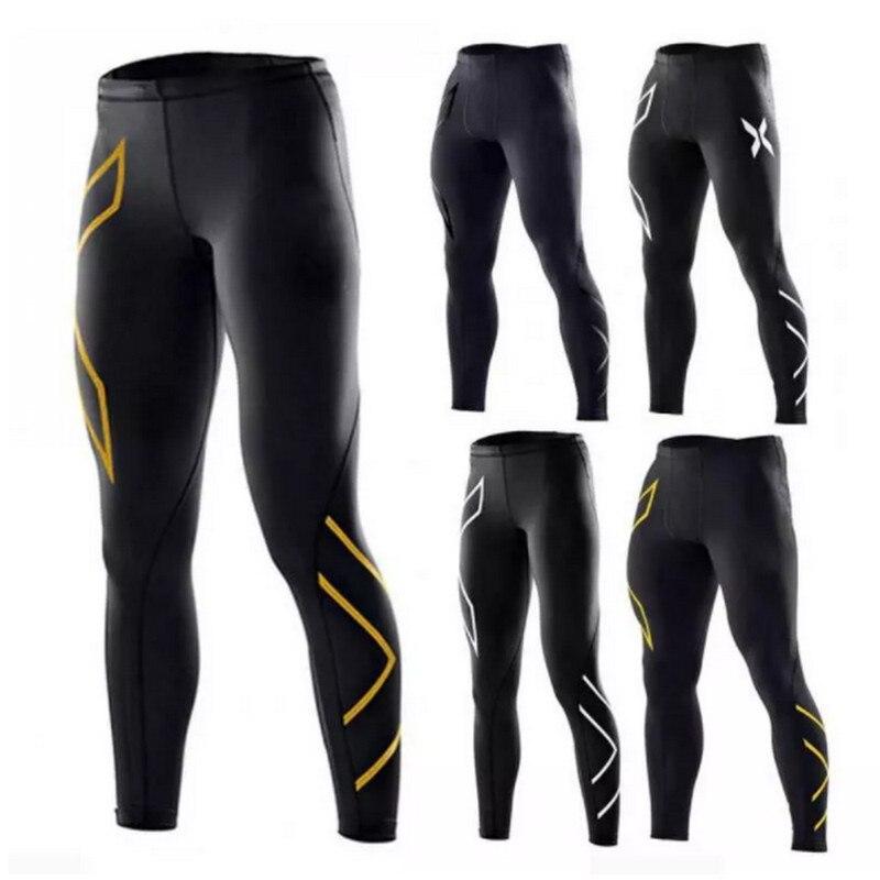 Men's Gym Compression Leggings Sport Training Pants Men Running Tights Trousers Sportswear Dry Fit Jogging Pants Running Tights