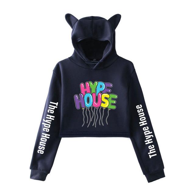 THE HYPE HOUSE CROP TOP EAR HOODIE (30 VARIAN)
