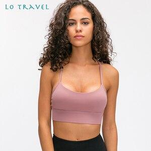 LOTRAVEL, новинка, y-образная удлиненная, с подкладкой, для бега, для занятий спортом, для занятий спортом, для женщин, на ощупь, ткань, Простые Спо...