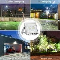 Новый 10 Вт 20 Вт 30 Вт 50 Вт 100 Вт 150 Вт умный прожектор тонкий 110 В Светодиодный прожектор SMD наружный водонепроницаемый IP65 лампа безопасности