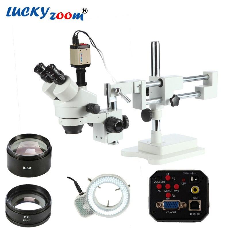 Microscopio 3.5X-90X Microscopio trinocular Microscopio est/éreo Microscopio con zoom WF10X//20mm Oculares 100-240V UE