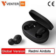 Saham Asli Xiaomi Redmi Airdots Tws Wireless Bluetooth Earphone Stereo Bass Bluetooth 5.0 dengan MIC Handsfree Ai Control(China)