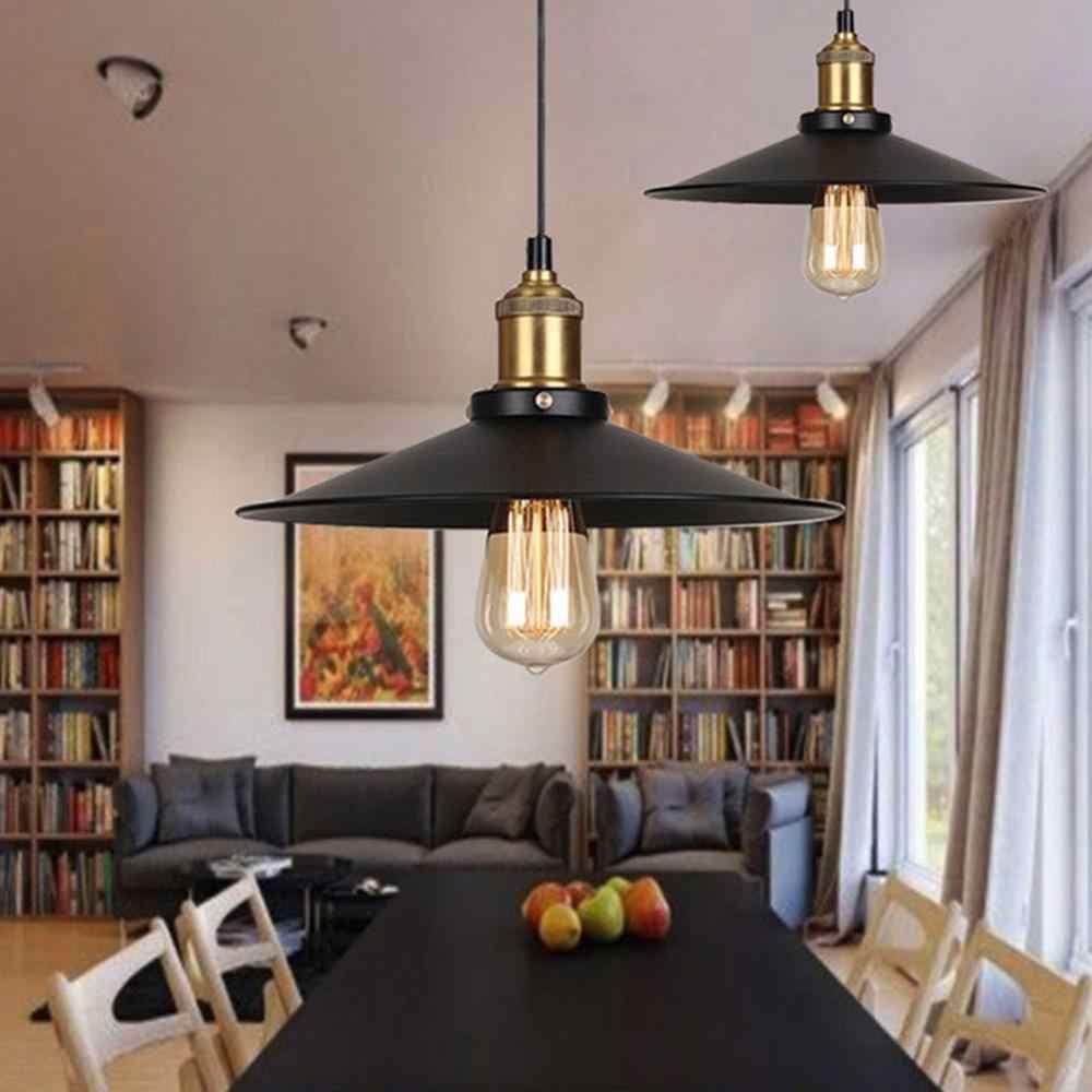 Современная Подвесная лампа Черная Железная подвесная клетка винтажная E27Led лампа промышленная Лофт ретро столовая Ресторан Бар