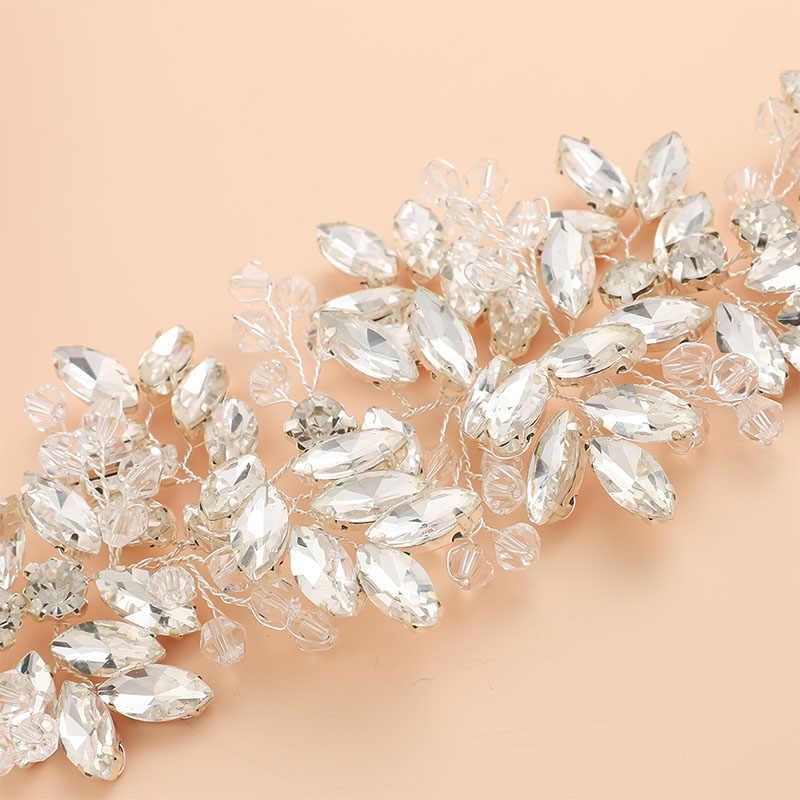 Da sposa In Raso Cinghie di Perline di Cristallo di Colore Argento Accessori di Cerimonia Nuziale Della Decorazione Vestito Da Promenade Cintura Bianco Avorio Strass Sposa Sash Regali