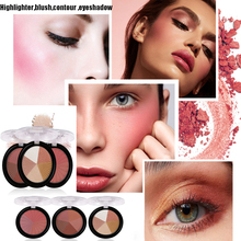 Professional Charming Face Highlighter Blusher Powder Pallete Beauty Natural Makeup Eyeshadow Contour Shading Powder Cosmetics недорого