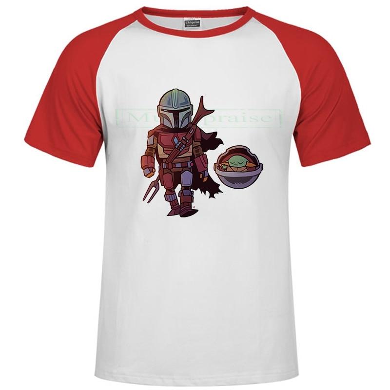 Lovely Baby Yoda T Shirt Men Star Wars Mandalorian T-Shirt Unisex Funny Cartoon The Child Yoda Cute Tshirt Hip Hop Top Tees