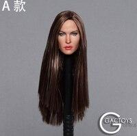 1/6 Scale Head Sculpt Megan Fox for 12'' Action Figure Body Female Figure Accessory Sexy Beauty Head Long Straight Hair