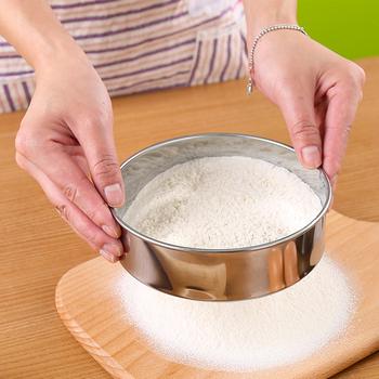 15cm kuchnia z drobnymi oczkami sito do mąki profesjonalne okrągłe sito do przesiewania mąki ze stali nierdzewnej sitko przesiewacze najlepsze na pieczenie w kuchni herbata tanie i dobre opinie Colanders i filtry CN (pochodzenie)
