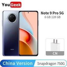 """Xiaomi Redmi Note 9 Pro 5G 6GB RAM 128GB ROM 108MP 카메라 휴대 전화 금어초 750G Octa Core 6.67 """"디스플레이 CN 버전 NFC"""