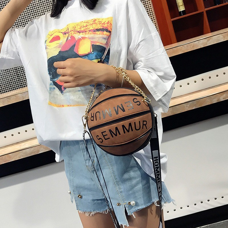 Luxury Handbags Women Bags Designer 2019 Famous Brand Letter Chain Basketball Bag Purse Female Shoulder Messenger Clutch Bag Sac