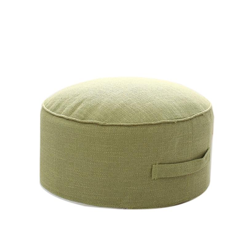 Дизайн, круглая высокопрочная губчатая подушка для сиденья, Подушка Татами, медитация, Йога, круглый коврик, подушки для стула - Цвет: Light Green