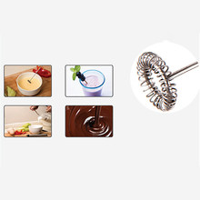 Host + Single Layer Head Stainless Steel Electric Milk Frother Handheld Egg Coffee Mixer Foamer Maker(China)