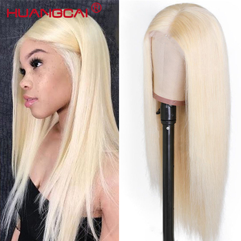 613 Blonde 360 Lace Frontal Human Hair Wigs Brazilian Straight Lace Front Wig Pre Plucked With Baby Hair Honey Blonde Remy Hair image