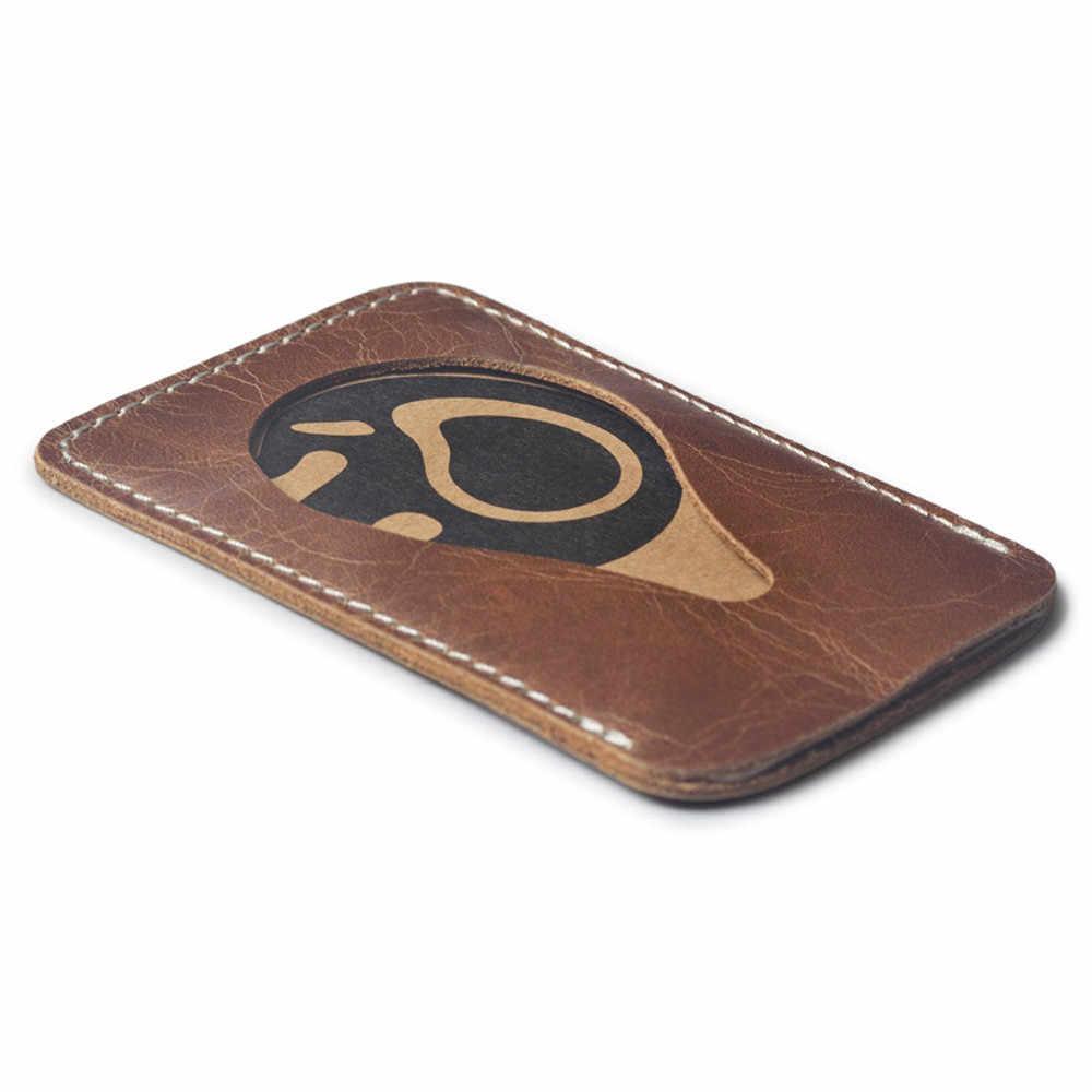 MOLAVE Fino RFID Bloqueio Carteira De Couro ID Crédito Caso Titular do Cartão de Dinheiro Bolsa para Mulheres Dos Homens 2018 Moda Saco 93.8 * 63mm