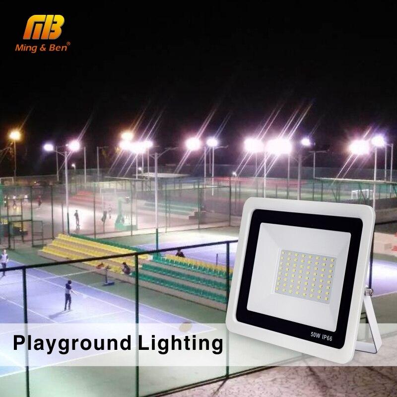 LED Floodlight 220V PIR Motion Sensor LED Spotlight 10W 20W 30W 50W 100W Outdoor Wall Reflector Lighting Waterproof Garden Lamp 6