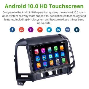 Image 2 - Seicane 2din Android 10.0 9 Inch Auto Multimedia Speler Gps Navi Voor Hyundai Santa Fe 2005 2006 2007 2008 2009 2010 2011 2012