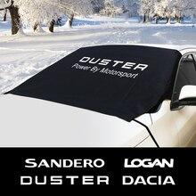 Araç ön camı koruyucu kar buz blok güneş gölge su geçirmez kapak Dacia Duster 1.0 için Tce Logan Sandero R4 oto aksesuarları