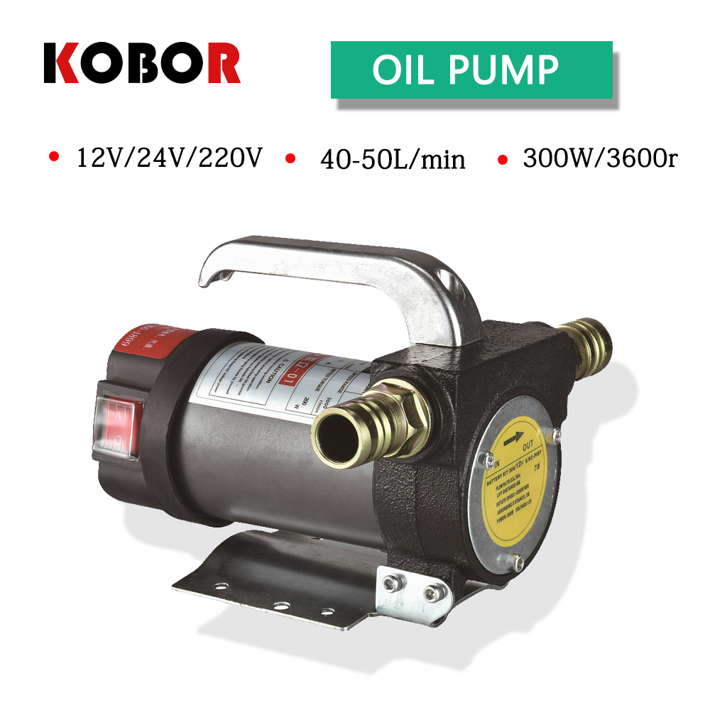 Oil Pump Dc 12v/24v 200w 50l/min Electric Automatic Transmission High Speed Diesel Fuel Transfer Oil Suction Gear Pump