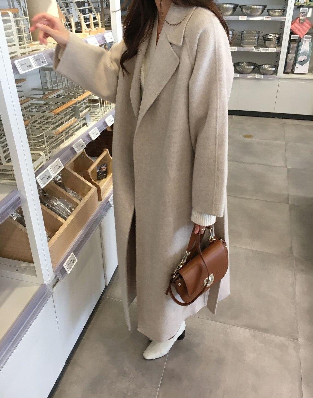 H73f81382031b45a1981eb33b1d88e1e8Y - Winter Revers Collar Solid Woolen Overcoat with Belt