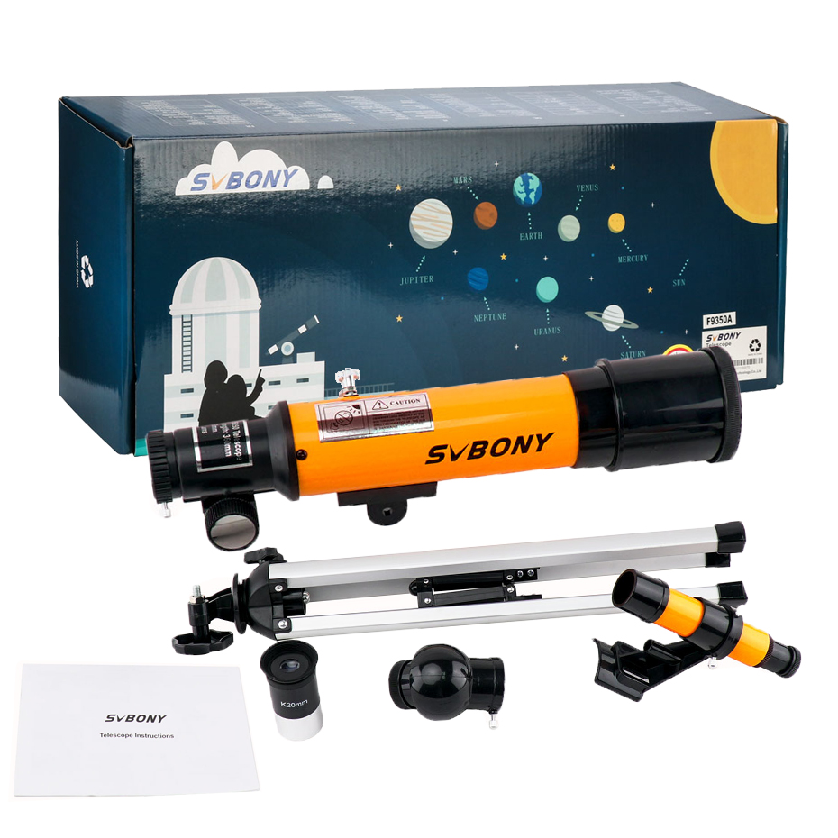 SVBONY Kids Telescope 50360 mm with Tripod,Finder Scope,Portable Telescope for Kids&Beginners, with travel Scope,Christmas gift