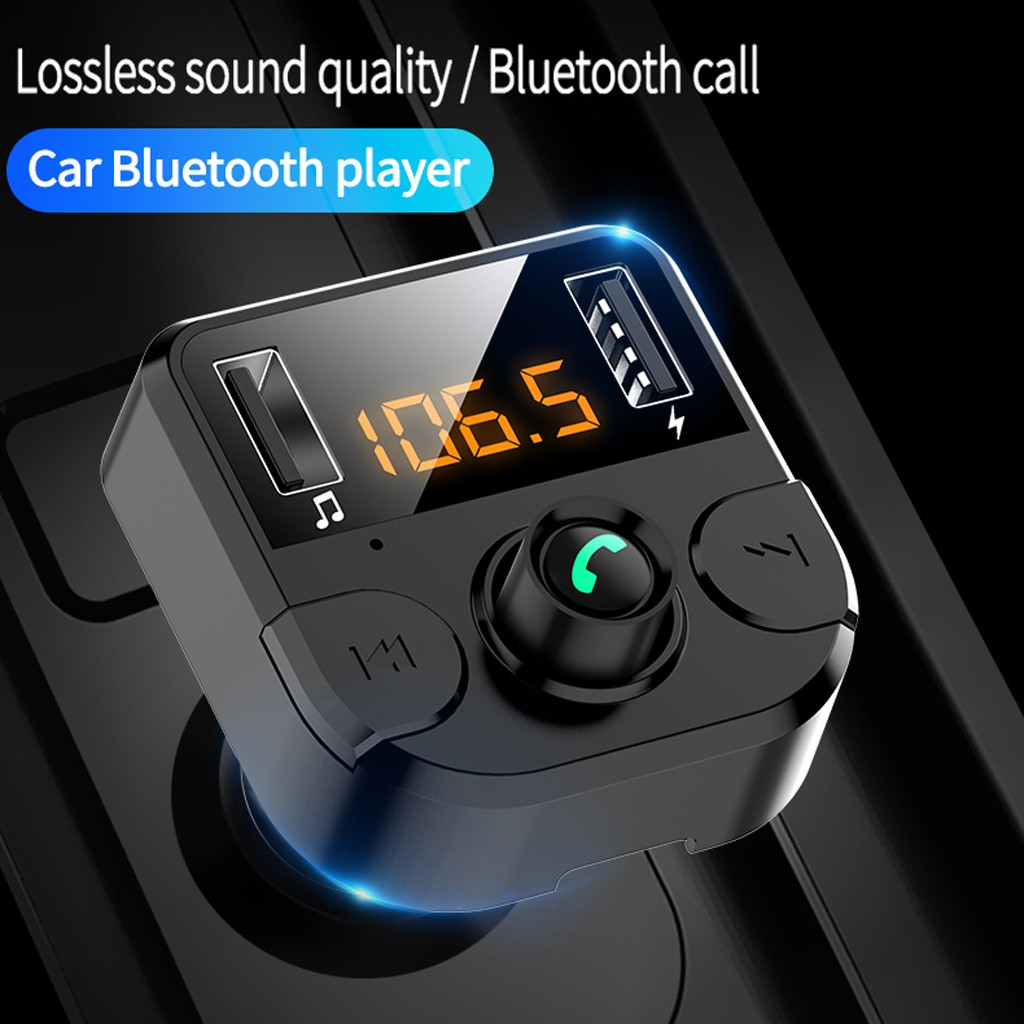 Wireless Bluetooth Car Kit FM Transmitter Radio Adapter 2USB Charger Mp3 Player