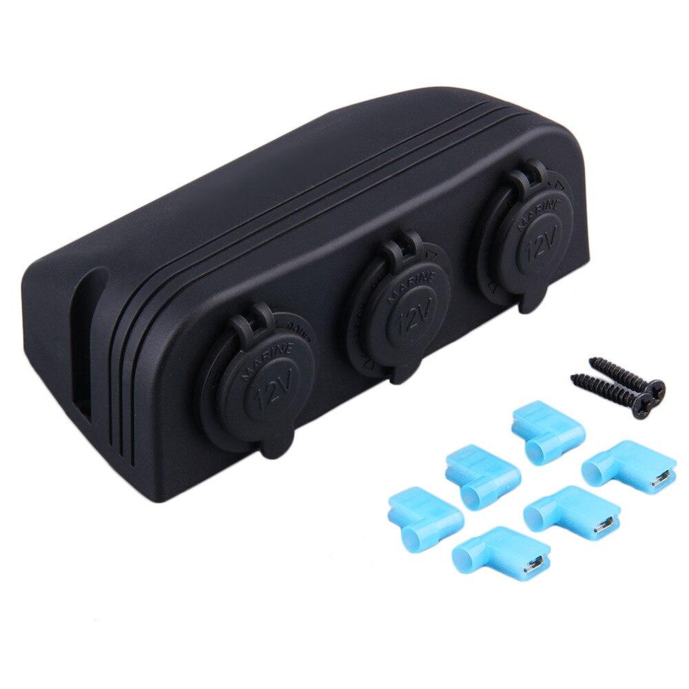 New 3 in 1 Black Car Cigarette Lighter Socket Splitter 12V Charger Power Adapter Hot Sale