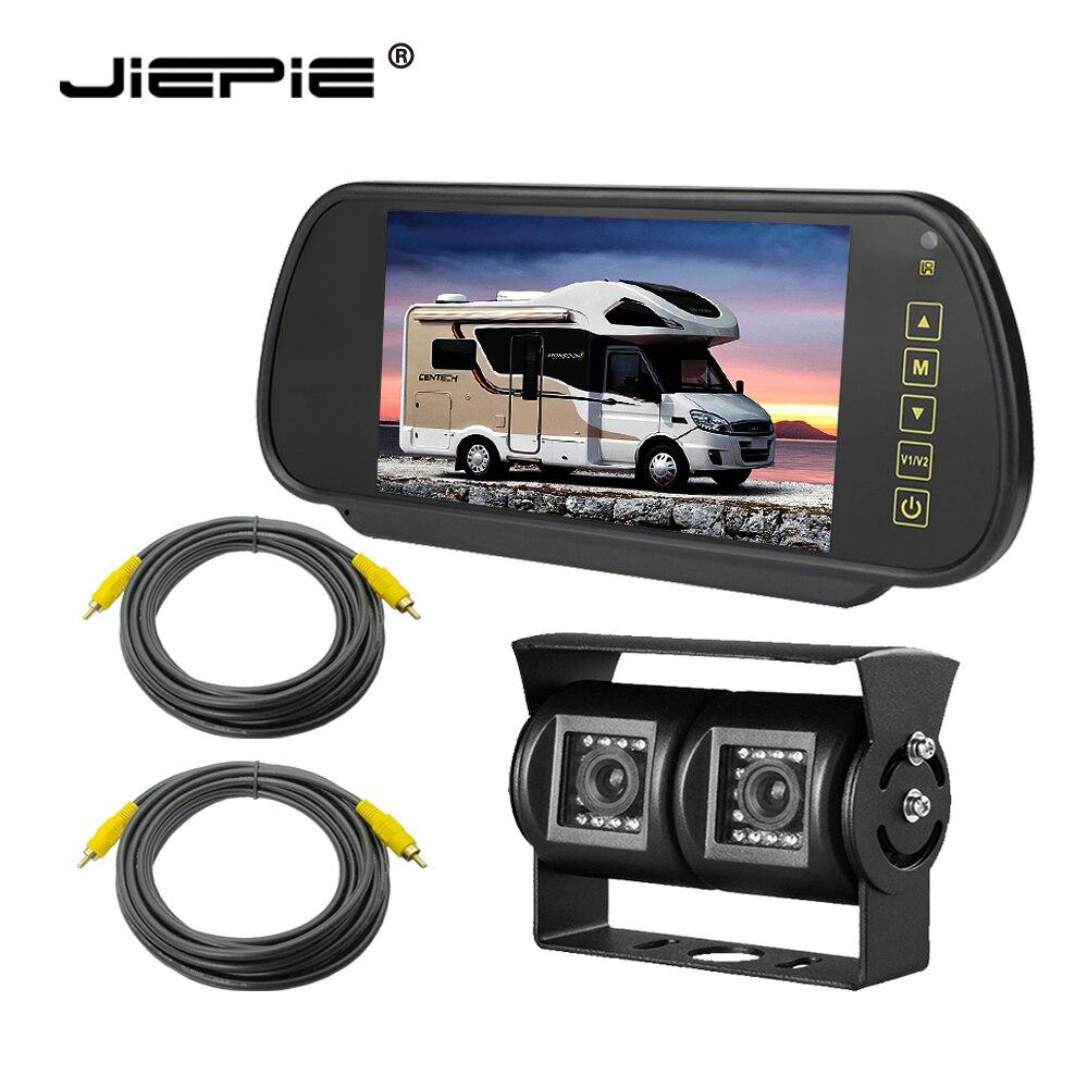 Car Rear View Camera System With 7 Inch Monitor Backup Camera Monitor Kit Dual Ccd Lens Reverse Camera Monitor For Truck/RVs/Van