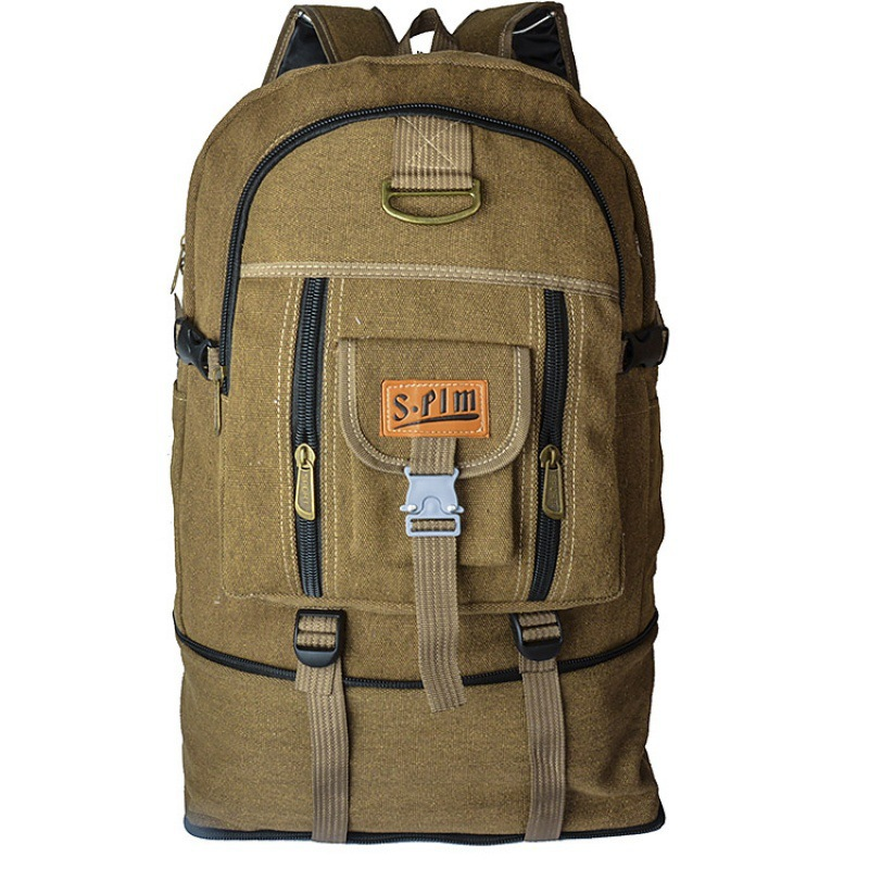 Ultra Large Capacity-Blanket Work Luggage Backpack Canvas Outdoor Mountaineering Bag 80 Litres Thick Wear-Resistant Backpack Men