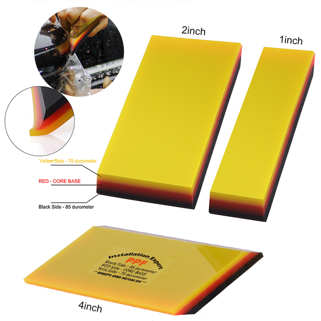 FOSHIO 2in1 Soft Rubber Squeegee Car Cleaning Tool Window Tint Carbon Fiber Vinyl Car Wrap Film Install Scraper Stickers Remover