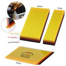 FOSHIO 2in1 Weiche Gummi Rakel Auto Reinigung Werkzeug Fenster Tönung Carbon Faser Vinyl Auto Wrap Film Installieren Schaber Aufkleber Remover