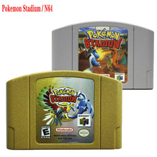 pokemon stadium N64  Kasselda Gold shell  USA Version Video Game Cartridge Pokemon Stadium 2 Golden Shell English Language