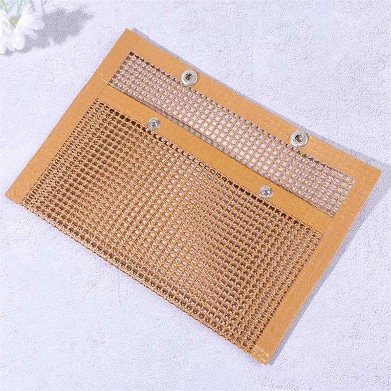 耐久性のあるバーベキューメッシュポーチノンスティックバーベキューメッシュバッグ実用的なバーベキューバーベキューポーチ耐熱バーベキューワイヤーメッシュコンテナ