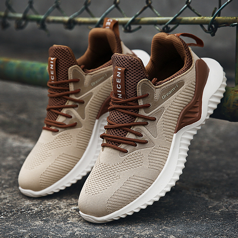 2019 Hot Sale Four Seasons Running Shoes Men Lace-up Athletic Trainers Zapatillas Sports Shoes Men Outdoor Walking Sneakers(China)