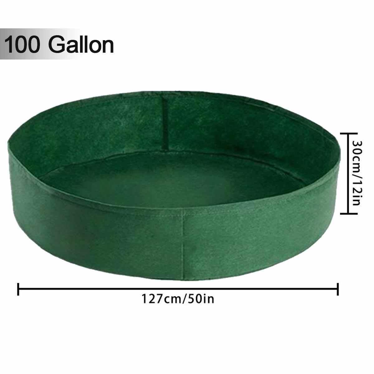 生地隆起ガーデンベッド 50 ガロンラウンド植栽コンテナを成長通気性フェルト生地プランターポットため植物保育園ポット