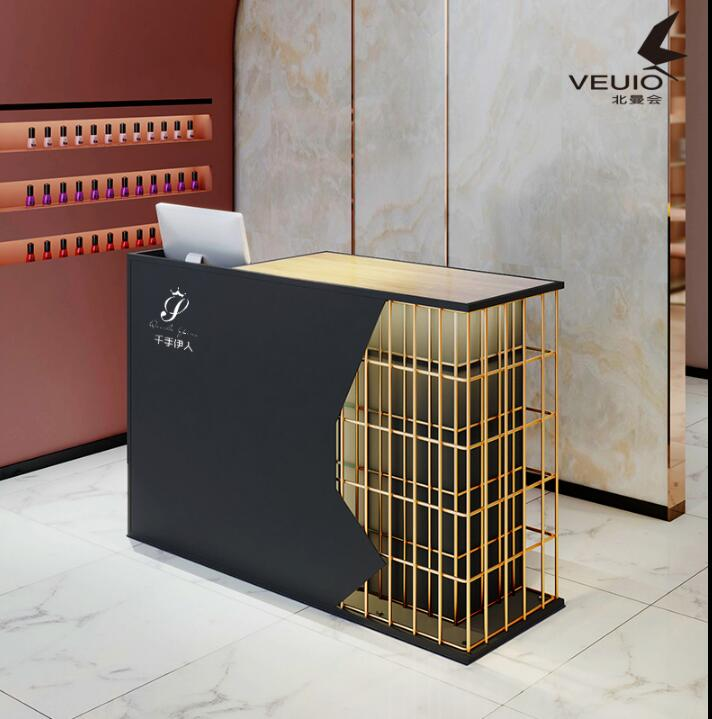 Clothing Store Cashier Desk. Simple Modern Store Small Reception Table. Front Table. Beauty Salon Barber Shop Milk Tea Shop Coun