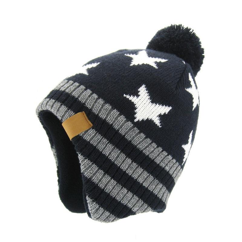 Toddler Warm Infant Girl Cap Boy Cute Hat Beanies Baby Star