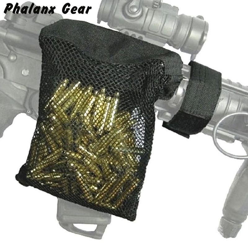 Hunting tactical M4 military army shooting Brass ar15 Bullet Catcher Rifle Mesh Trap Shell Catcher Wrap Around Zipper Bag(China)