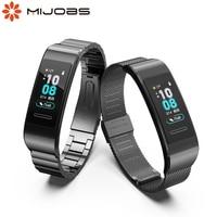 Per Huawei Band 4 Pro 3 3Pro Smart Watch braccialetti per braccialetti cinturino da polso di ricambio in metallo per Huawei 3/3 Pro/4 Pro accessori