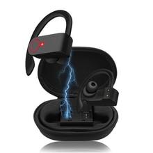 цена на Bluetooth Headset Wireless Headphones Stereo Ear-Hook Sport Earbuds Bluetooth Earphones with Charging Case