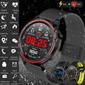L8 ЭКГ Смарт-часы для мужчин IP68 Водонепроницаемые PPG кровяное давление пульсометр фитнес-часы спортивные Смарт-часы для Android IOS