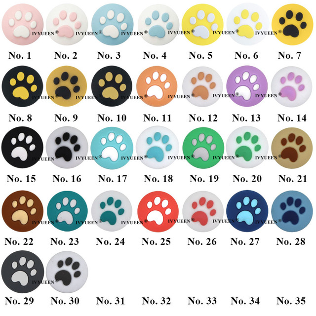 IVYUEEN 2 Pcs Silicone Caps for Nintend Switch Joy Con Paw Claw Joystick Analog Stick Thumb Grips Cover for NintendoSwitch Lite 1