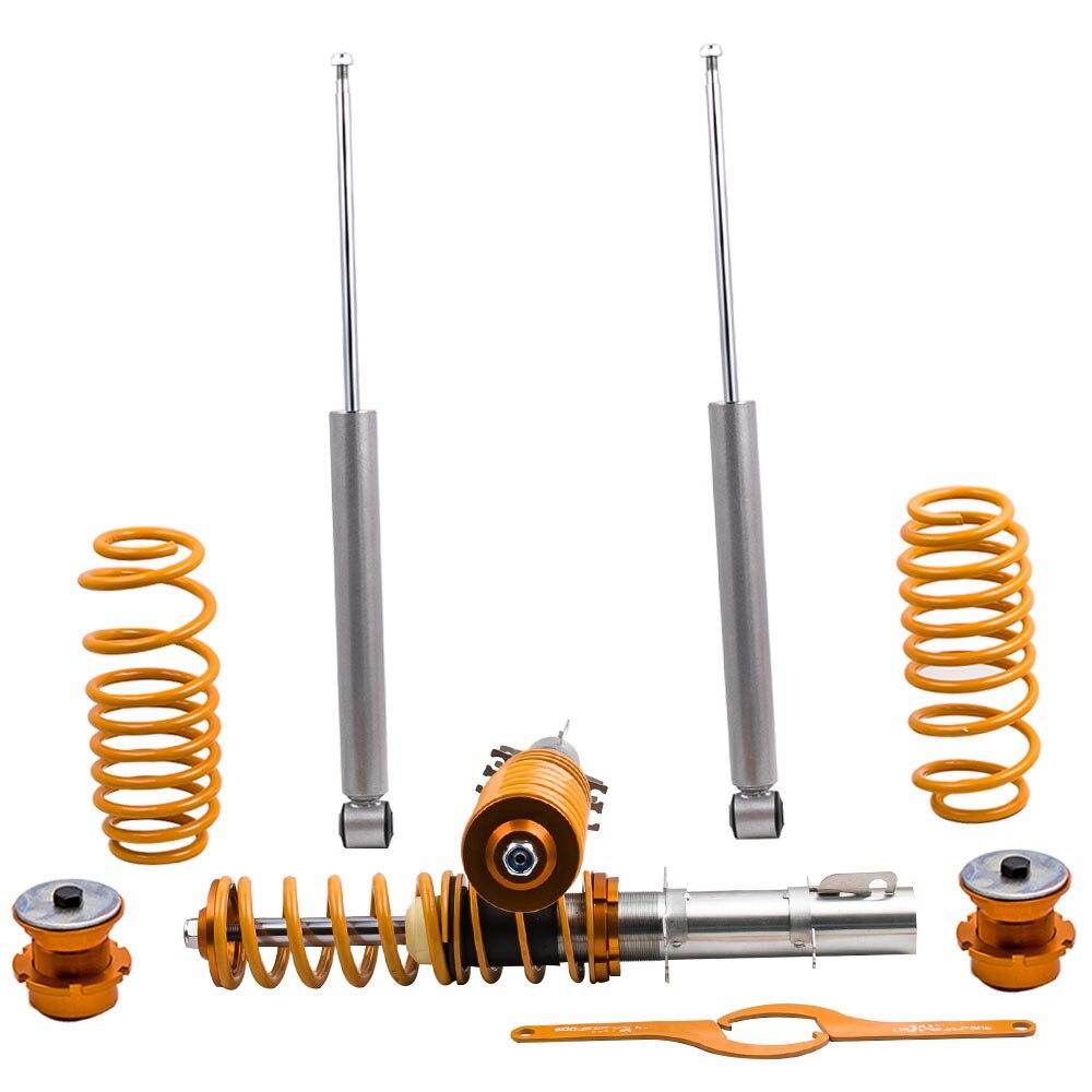 Réglable Coilover Suspension Kit Convient pour VW GOLF 4 MK4 LAPIN Ressorts Hélicoïdaux Suspension Rue COILOVER Choc Absrober