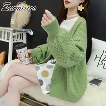 Surmiitro Long Sleeve Cardigan Women 2019 Casual Korean Ladies Knitted Winter Sweater Tricot Coat Jacket Female