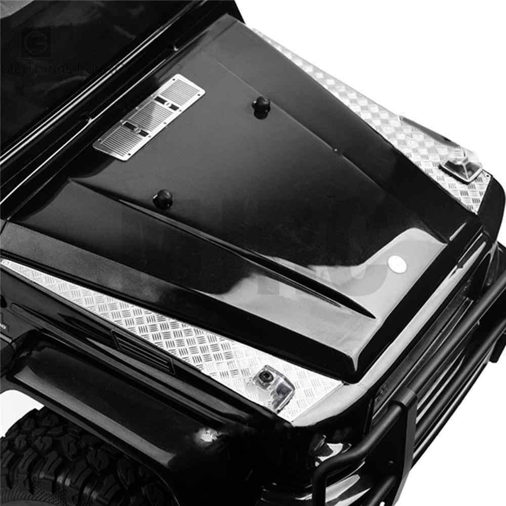 Décoration en acier inoxydable voiture capot autocollant anti-dérapant plaque conseil pour 1/10 TRAXXAS AMG 88096-4 TRX6 G63 TRX4 G500 RC pièces de voiture