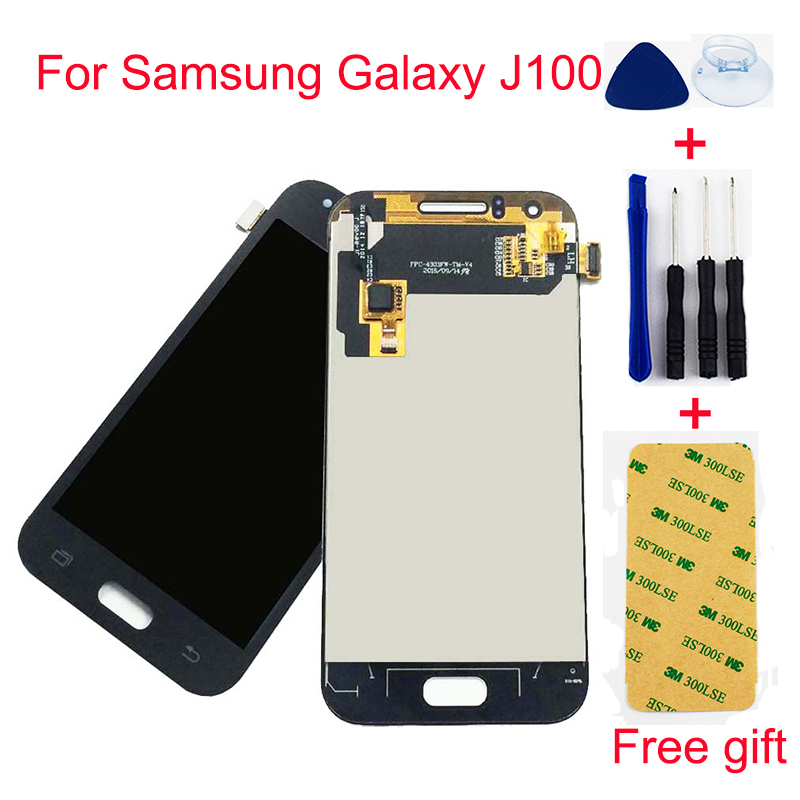 Für <font><b>Samsung</b></font> Galaxy J1 <font><b>J100</b></font> SM-J100F J100H J100FN Touchscreen Digitizer Sensor + <font><b>LCD</b></font> Display Panel Monitor Montage image