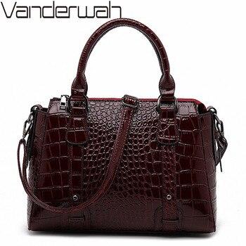 Большие женские сумки-тоут с крокодиловым узором