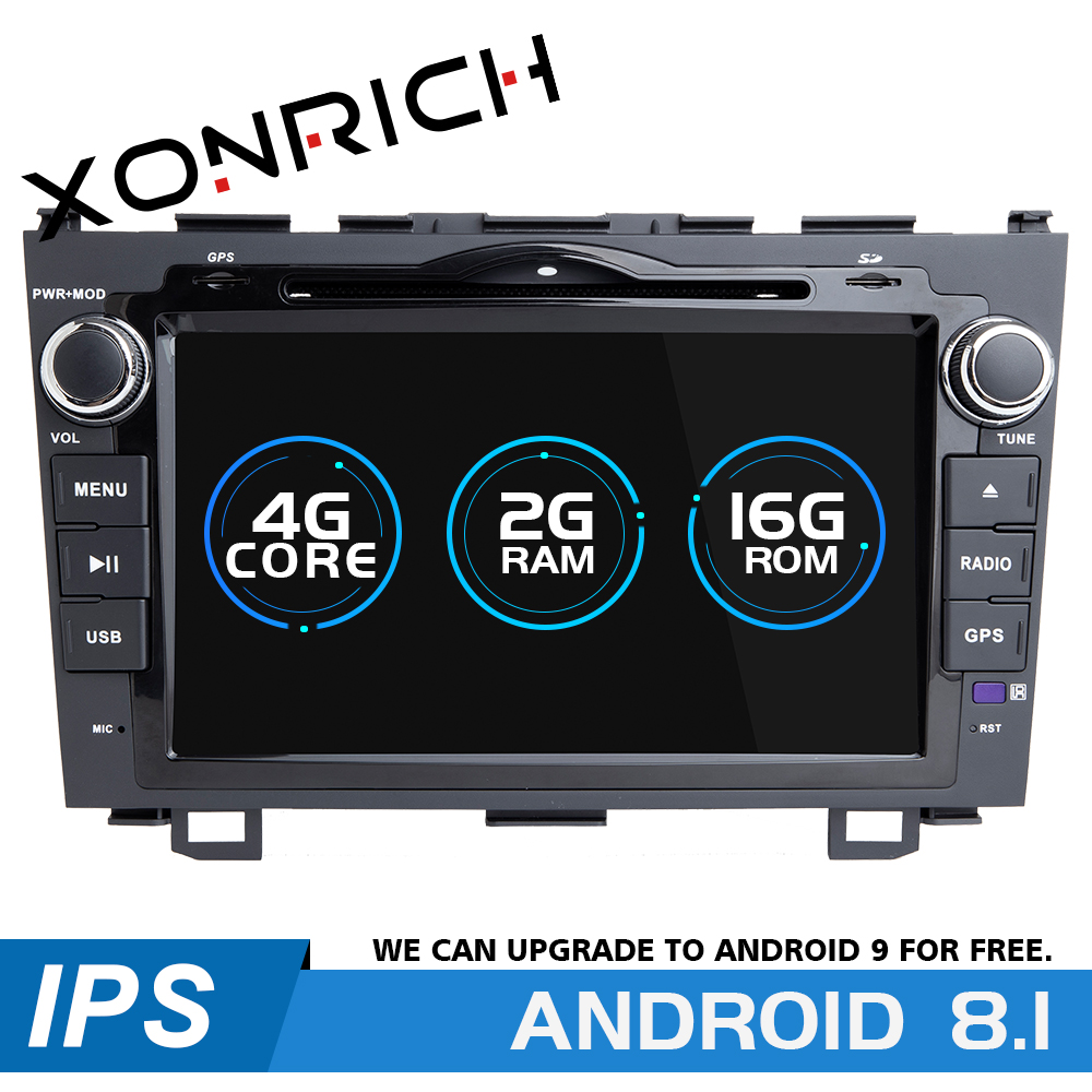 2 din Android 8.1 Auto DVD-Multimedia-Player Für Honda <font><b>CRV</b></font> 2007 <font><b>2008</b></font> 2009 2010 2011 GPS Navigation <font><b>Radio</b></font> Head Unit 4G WIFI 2G RAM image