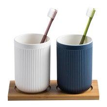 2 шт./компл. 400 мл матовая бытовой Керамика рот чашки стакана воды щетки для мытья чашки зубы цилиндр в сборе, WY112201